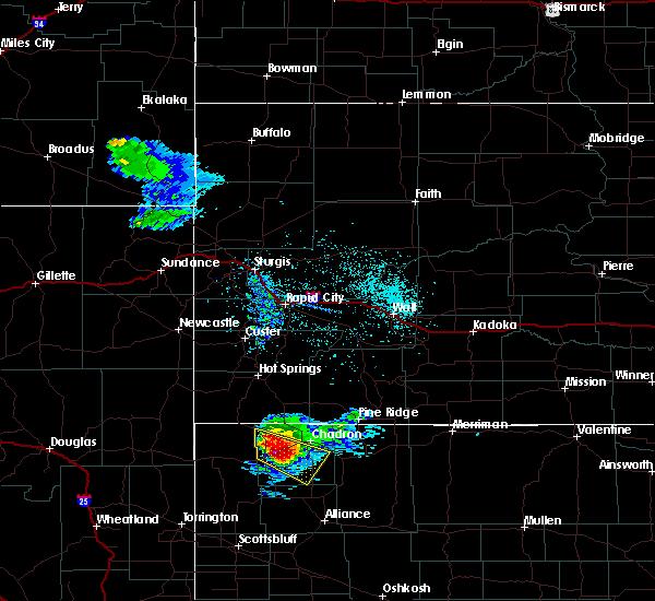 Radar Image for Severe Thunderstorms near Chadron, NE at 6/5/2020 8:34 PM MDT