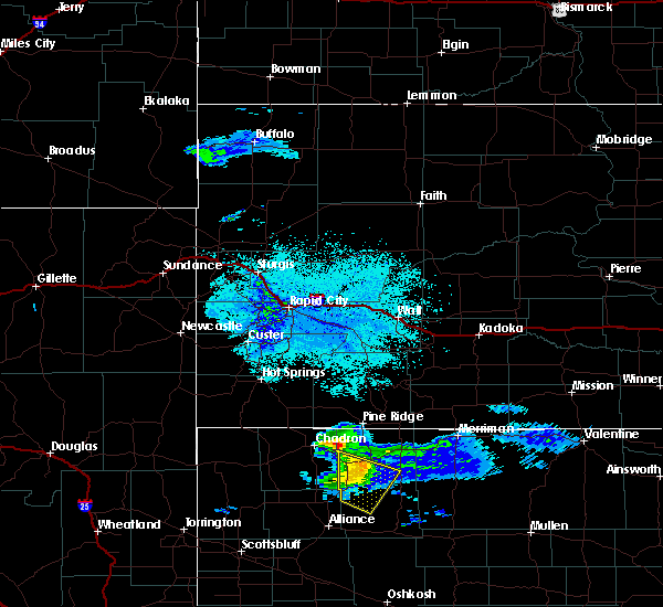 Radar Image for Severe Thunderstorms near Hay Springs, NE at 6/5/2020 9:28 PM MDT