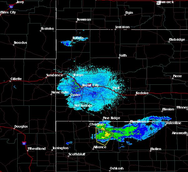Radar Image for Severe Thunderstorms near Hay Springs, NE at 6/5/2020 9:44 PM MDT