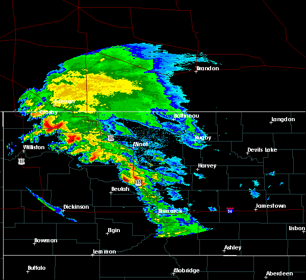 Radar Image for Severe Thunderstorms near Riverdale, ND at 6/6/2020 9:12 AM CDT