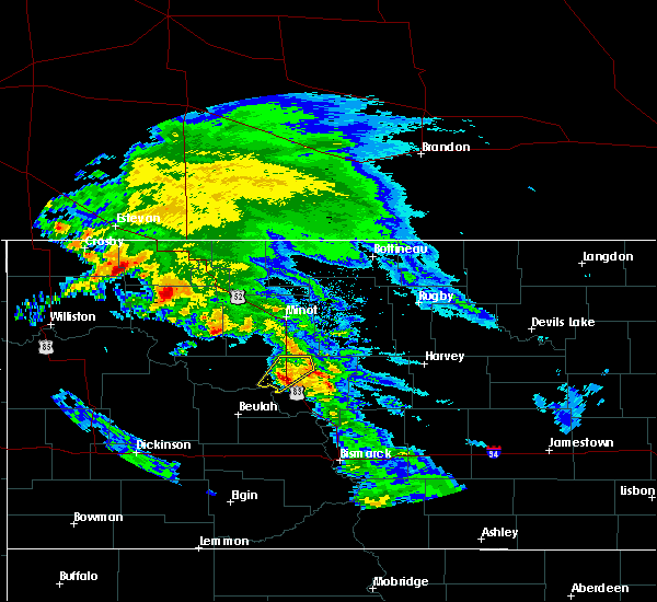 Radar Image for Severe Thunderstorms near Flaxton, ND at 6/6/2020 9:35 AM CDT