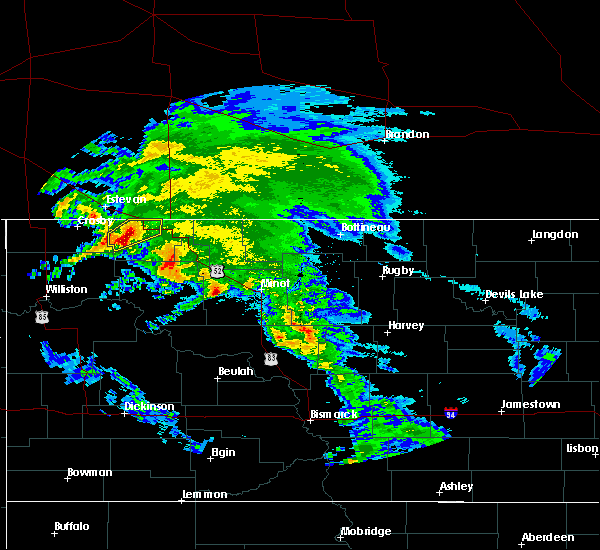 Radar Image for Severe Thunderstorms near Flaxton, ND at 6/6/2020 9:46 AM CDT