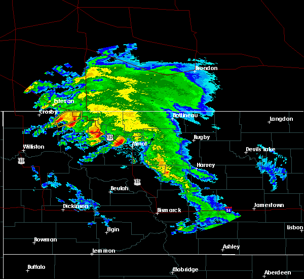 Radar Image for Severe Thunderstorms near Flaxton, ND at 6/6/2020 10:10 AM CDT