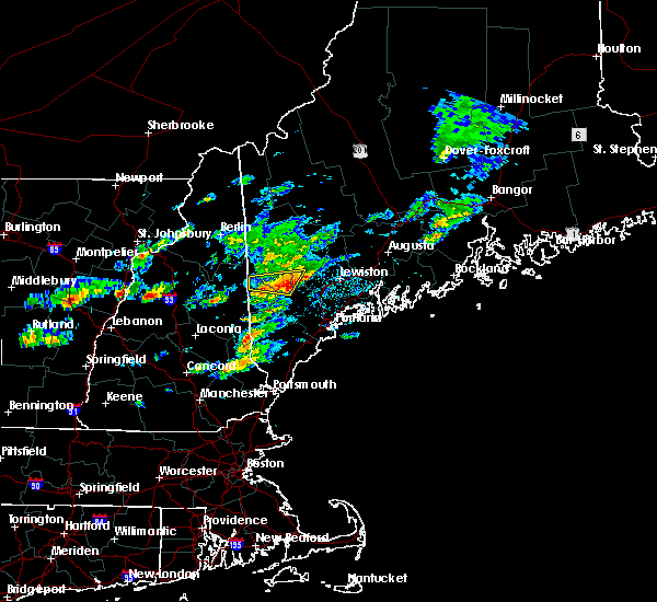 Radar Image for Severe Thunderstorms near Gray, ME at 6/6/2020 12:37 PM EDT