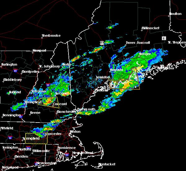 Radar Image for Severe Thunderstorms near Springvale, ME at 6/6/2020 2:27 PM EDT