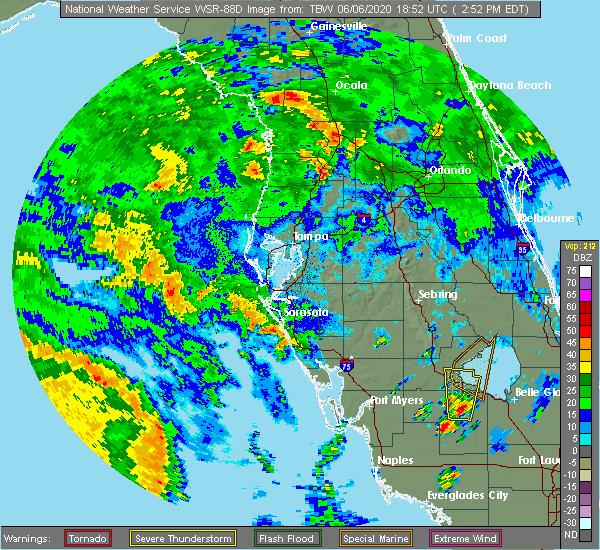 Radar Image for Severe Thunderstorms near Lake Panasoffkee, FL at 6/6/2020 3:00 PM EDT
