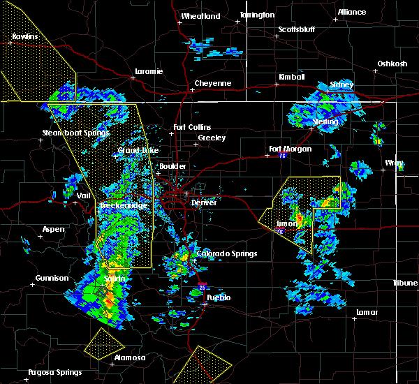 Radar Image for Severe Thunderstorms near Hugo, CO at 6/6/2020 2:47 PM MDT