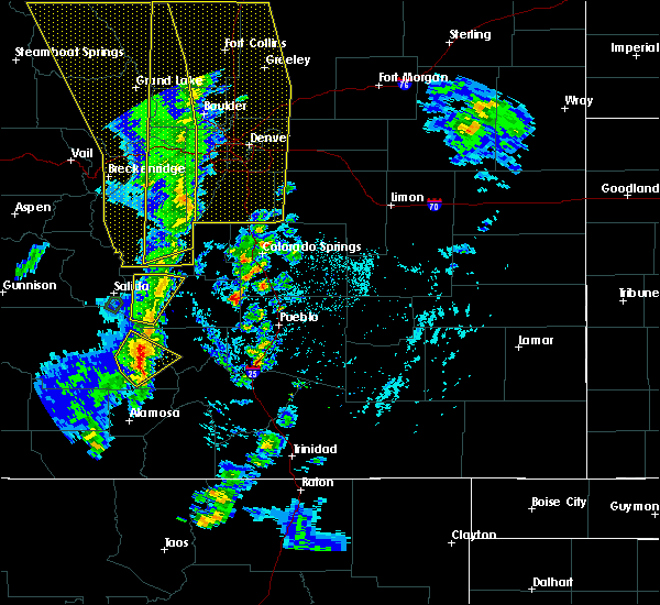 Radar Image for Severe Thunderstorms near Fountain, CO at 6/6/2020 3:18 PM MDT
