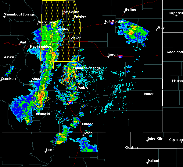 Radar Image for Severe Thunderstorms near Fountain, CO at 6/6/2020 3:23 PM MDT