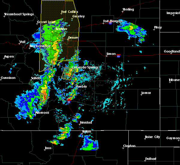Radar Image for Severe Thunderstorms near Fountain, CO at 6/6/2020 3:30 PM MDT