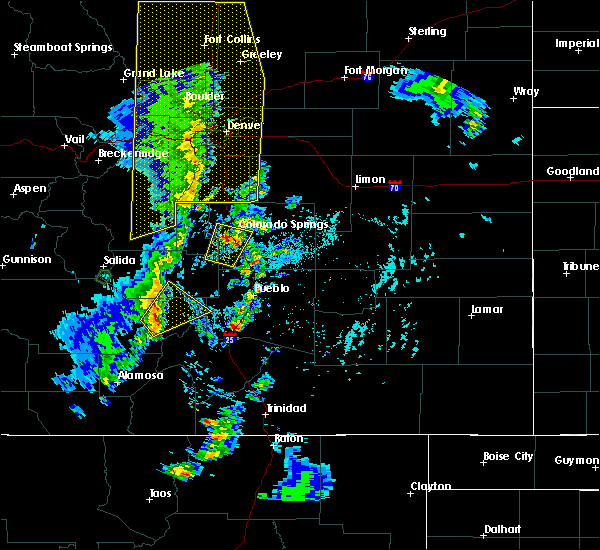 Radar Image for Severe Thunderstorms near Fountain, CO at 6/6/2020 3:35 PM MDT