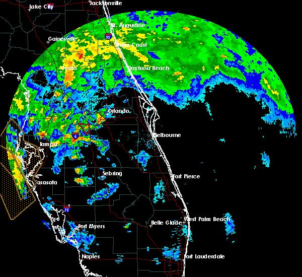 Radar Image for Severe Thunderstorms near Orlando, FL at 6/6/2020 5:42 PM EDT