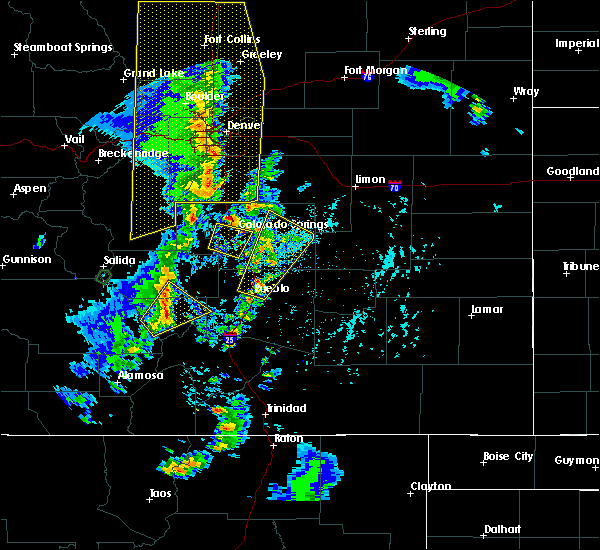 Radar Image for Severe Thunderstorms near Fountain, CO at 6/6/2020 3:44 PM MDT