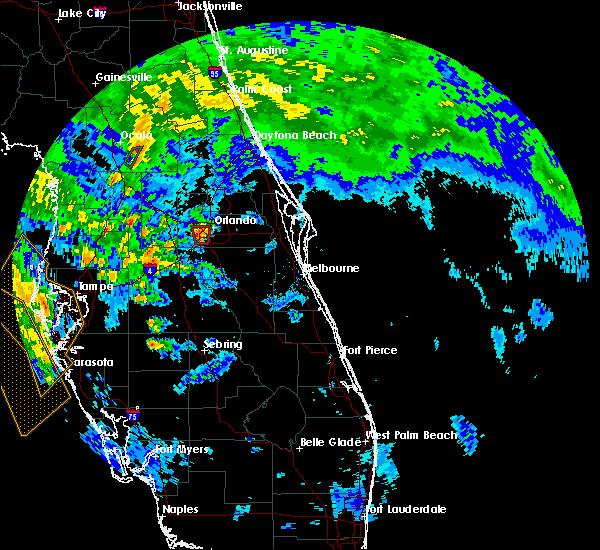 Radar Image for Severe Thunderstorms near Orlando, FL at 6/6/2020 5:51 PM EDT