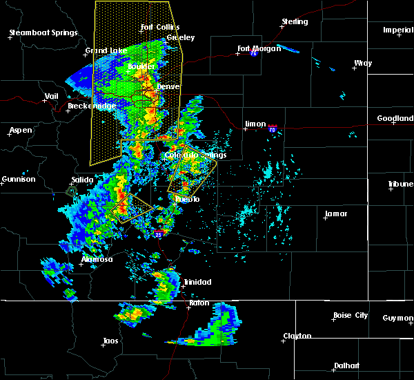 Radar Image for Severe Thunderstorms near Fountain, CO at 6/6/2020 3:52 PM MDT