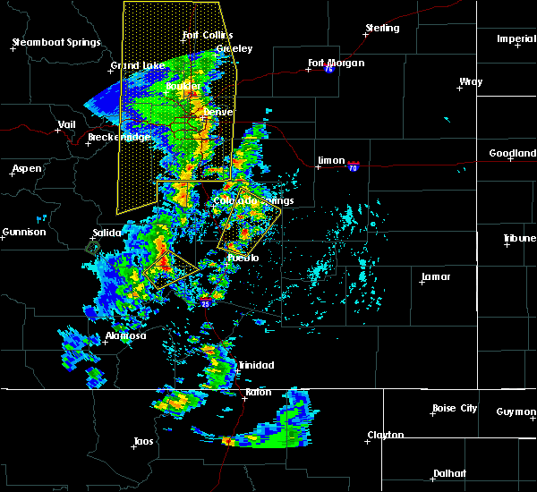 Radar Image for Severe Thunderstorms near Peyton, CO at 6/6/2020 4:00 PM MDT
