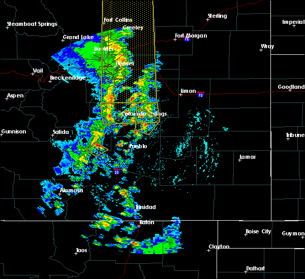Radar Image for Severe Thunderstorms near Peyton, CO at 6/6/2020 4:07 PM MDT