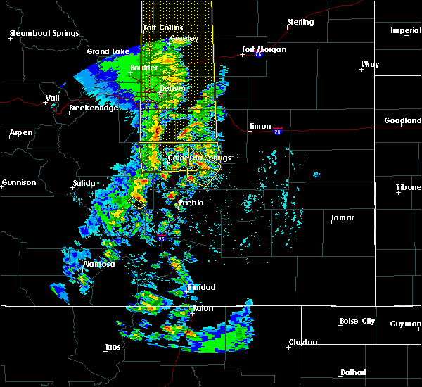 Radar Image for Severe Thunderstorms near Fountain, CO at 6/6/2020 4:14 PM MDT