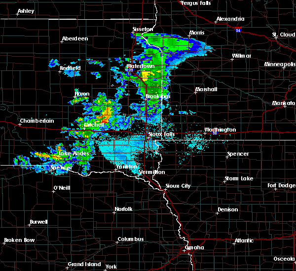 Radar Image for Severe Thunderstorms near Canova, SD at 6/6/2020 5:15 PM CDT
