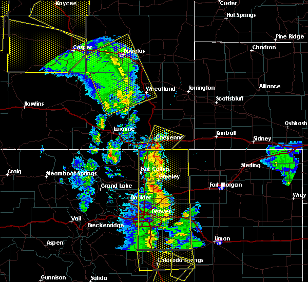 Radar Image for Severe Thunderstorms near Wheatland, WY at 6/6/2020 4:15 PM MDT
