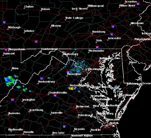 Radar Image for Severe Thunderstorms near Fredericksburg, VA at 6/6/2020 6:23 PM EDT
