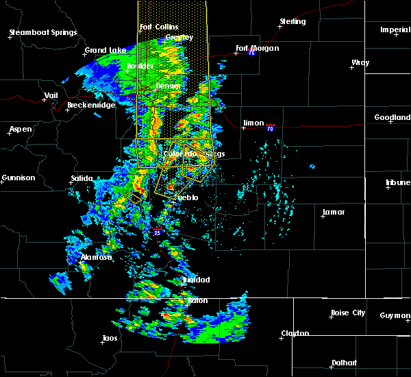 Radar Image for Severe Thunderstorms near Fountain, CO at 6/6/2020 4:24 PM MDT