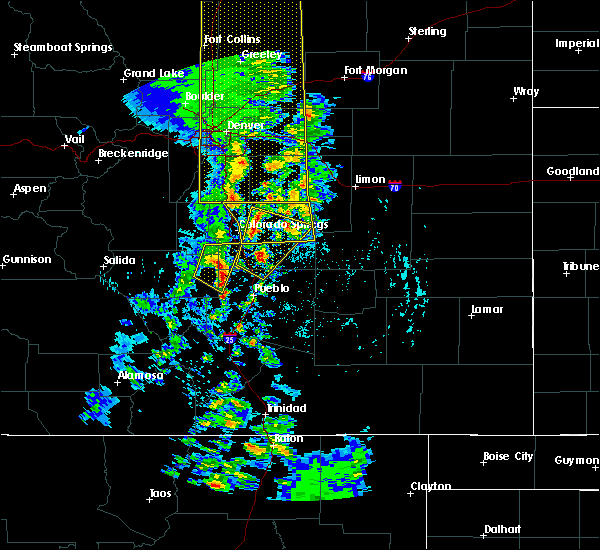 Radar Image for Severe Thunderstorms near Monument, CO at 6/6/2020 4:31 PM MDT