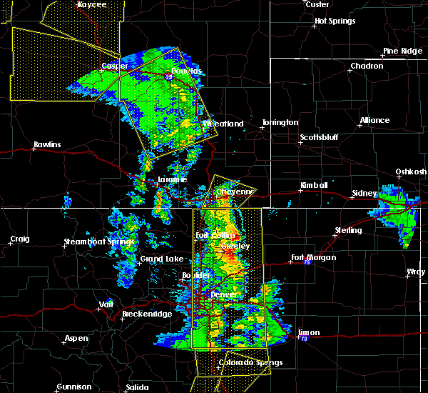 Radar Image for Severe Thunderstorms near Pine Bluffs, WY at 6/6/2020 4:33 PM MDT
