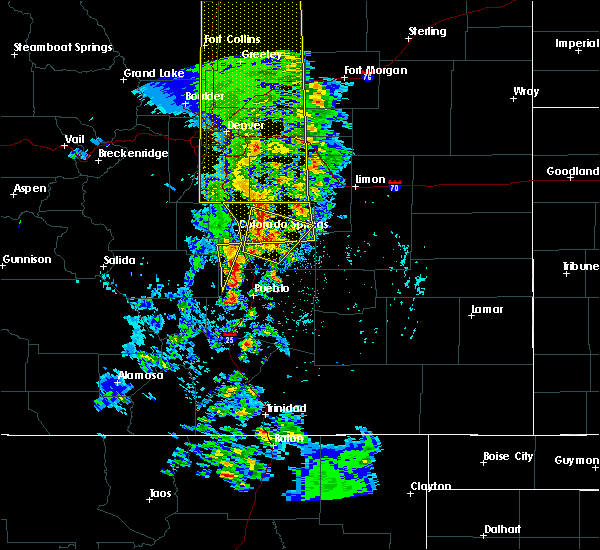 Radar Image for Severe Thunderstorms near Fountain, CO at 6/6/2020 4:37 PM MDT