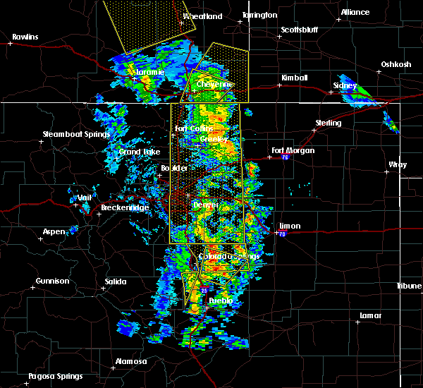 Radar Image for Severe Thunderstorms near Strasburg, CO at 6/6/2020 4:39 PM MDT