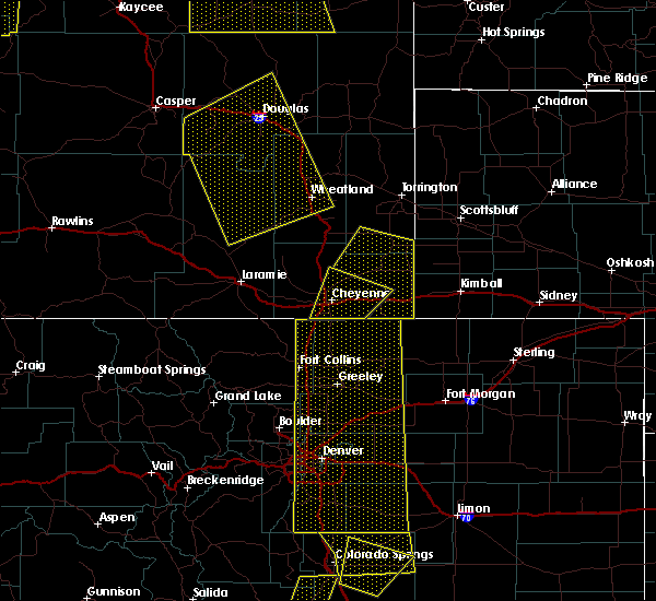 Radar Image for Severe Thunderstorms near Fort Laramie, WY at 6/6/2020 4:42 PM MDT
