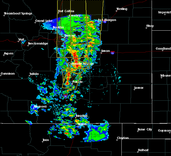 Radar Image for Severe Thunderstorms near Fountain, CO at 6/6/2020 4:46 PM MDT