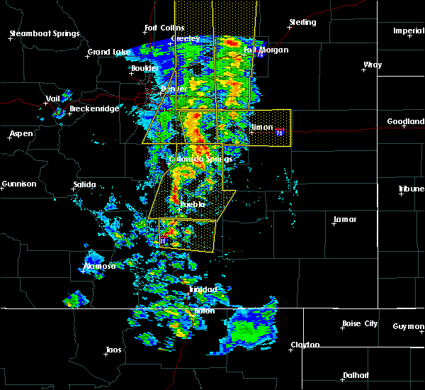 Radar Image for Severe Thunderstorms near Pueblo, CO at 6/6/2020 4:53 PM MDT