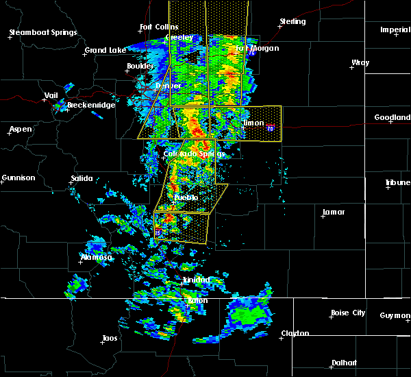 Radar Image for Severe Thunderstorms near Fountain, CO at 6/6/2020 4:58 PM MDT