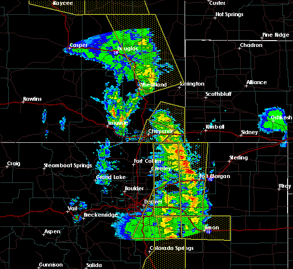 Radar Image for Severe Thunderstorms near Pine Bluffs, WY at 6/6/2020 4:59 PM MDT