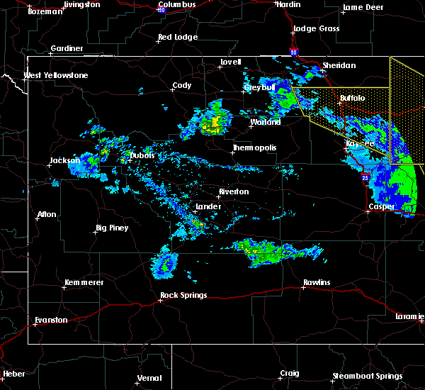 Radar Image for Severe Thunderstorms near Buffalo, WY at 6/6/2020 5:05 PM MDT