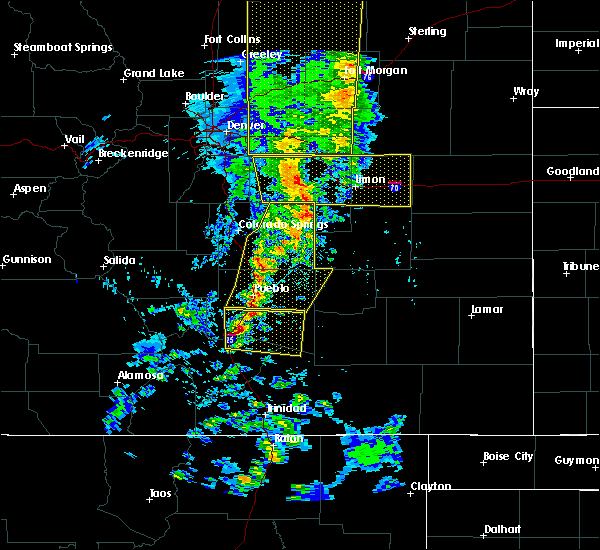 Radar Image for Severe Thunderstorms near Pueblo, CO at 6/6/2020 5:06 PM MDT