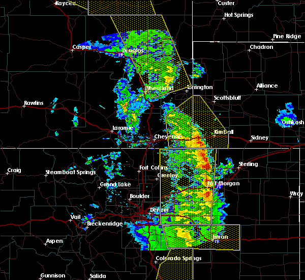 Radar Image for Severe Thunderstorms near Fort Laramie, WY at 6/6/2020 5:09 PM MDT