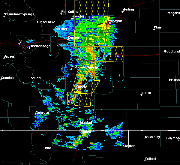 Radar Image for Severe Thunderstorms near Pueblo West, CO at 6/6/2020 5:14 PM MDT