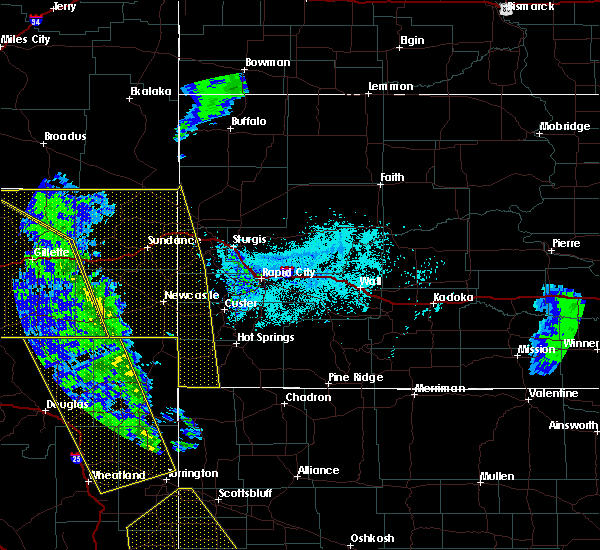 Radar Image for Severe Thunderstorms near Osage, WY at 6/6/2020 5:18 PM MDT