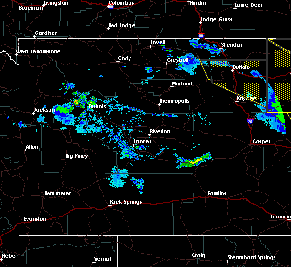 Radar Image for Severe Thunderstorms near Buffalo, WY at 6/6/2020 5:25 PM MDT