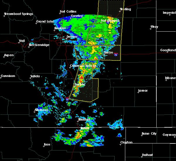 Radar Image for Severe Thunderstorms near Hugo, CO at 6/6/2020 5:30 PM MDT