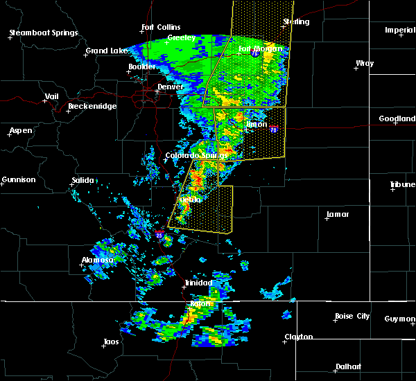 Radar Image for Severe Thunderstorms near Pueblo, CO at 6/6/2020 5:33 PM MDT