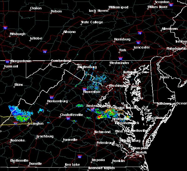 Radar Image for Severe Thunderstorms near Fredericksburg, VA at 6/6/2020 7:32 PM EDT