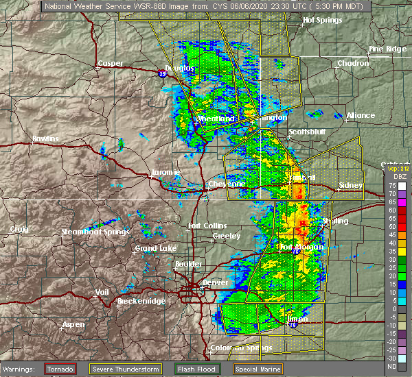 Radar Image for Severe Thunderstorms near Mitchell, NE at 6/6/2020 5:35 PM MDT