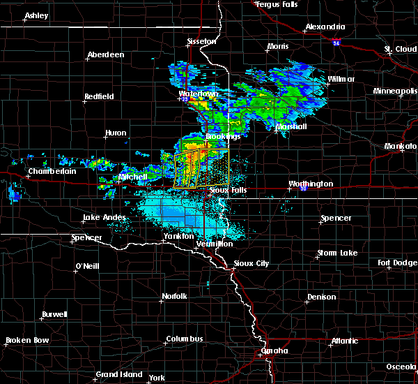 Radar Image for Severe Thunderstorms near Colman, SD at 6/6/2020 6:41 PM CDT