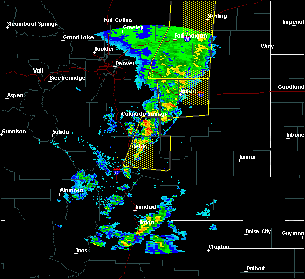 Radar Image for Severe Thunderstorms near Pueblo, CO at 6/6/2020 5:47 PM MDT