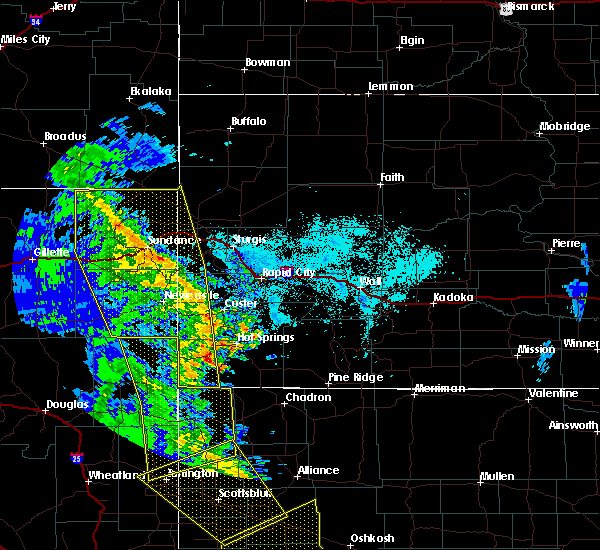 Radar Image for Severe Thunderstorms near Oelrichs, SD at 6/6/2020 5:59 PM MDT
