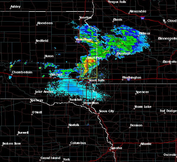 Radar Image for Severe Thunderstorms near Colman, SD at 6/6/2020 7:02 PM CDT