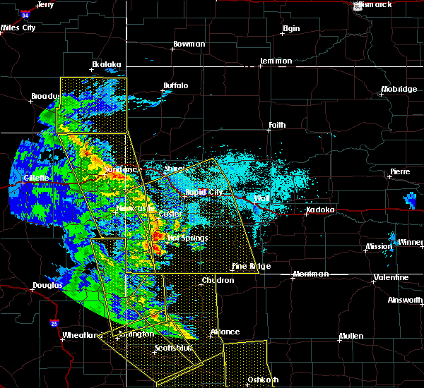 Radar Image for Severe Thunderstorms near Oelrichs, SD at 6/6/2020 6:08 PM MDT